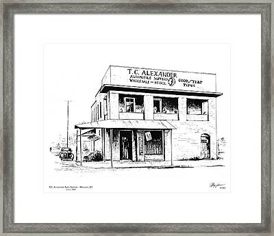 Tc Alexander Store Framed Print by Greg Joens