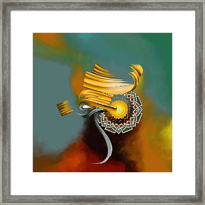 Tc Calligraphy 23 1  Framed Print by Team CATF