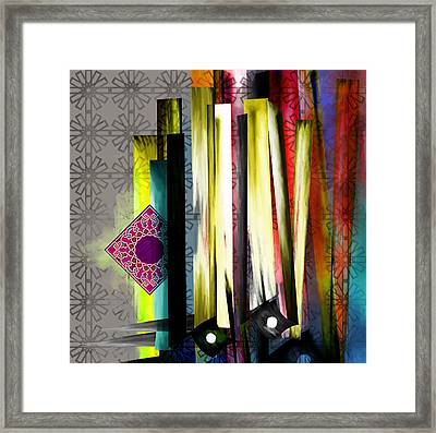 Tc Calligraphy 27 10 Framed Print by Team CATF