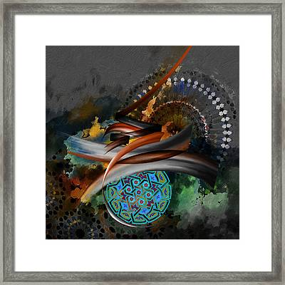 Tc Calligraphy 34 3  Framed Print by Team CATF