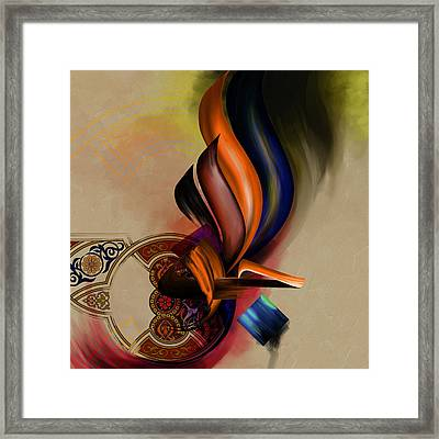 Tc Calligraphy 53 Framed Print by Team CATF