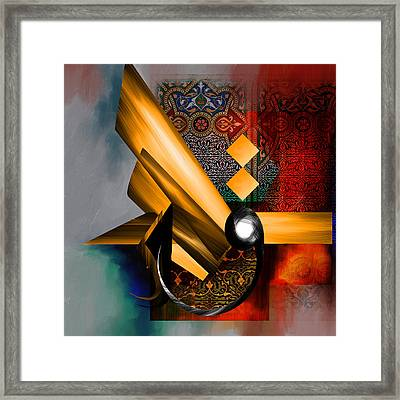 Tc Calligraphy 68 1  Framed Print by Team CATF