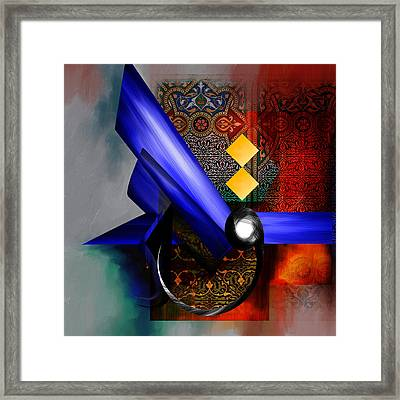 Tc Calligraphy 68  Framed Print by Team CATF