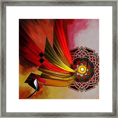 Tc Calligraphy 73 Al Mutakabbir 1 Framed Print by Team CATF