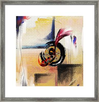 Tcm Calligraphy 3 8 Framed Print