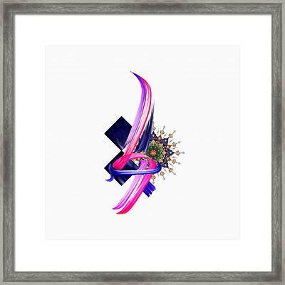 Tcm Calligraphy 30 1 Framed Print by Team CATF