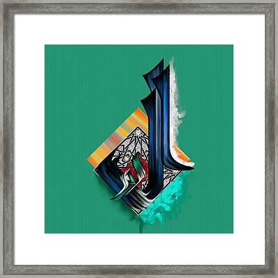 Tcm Calligraphy 49 4 Al Mudhill Framed Print by Team CATF