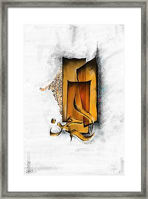 Tcm Calligraphy 5 Framed Print by Team CATF