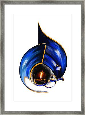 Tcm Calligraphy 9 2 Framed Print