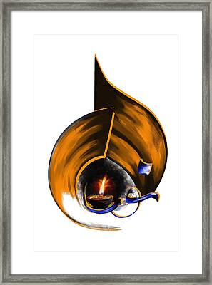 Tcm Calligraphy 9 3 Framed Print