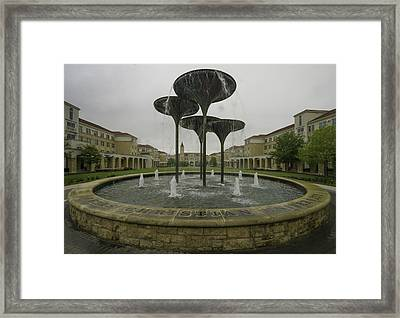 Tcu Campus Commons Framed Print