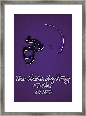 Tcu Horned Frogs Helmet Framed Print by Joe Hamilton
