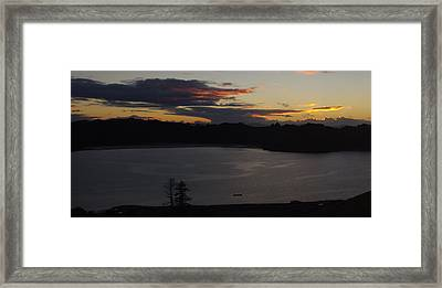 Te Matuku Early Light Framed Print