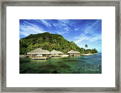 Te Tiare Resort Framed Print by David Cornwell/First Light Pictures, Inc - Printscapes