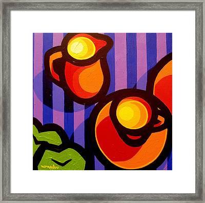 Tea And Apples Framed Print by John  Nolan