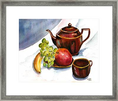 Tea And Fruit Framed Print