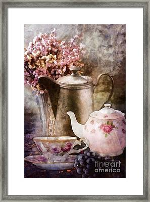 Tea And Grapes Framed Print by Mo T