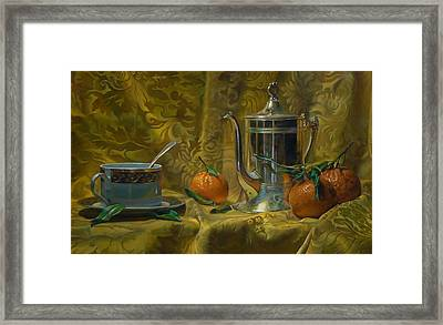 Tea And Oranges Framed Print by Jeffrey Hayes