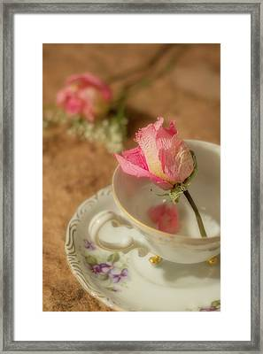 Tea And Roses Framed Print