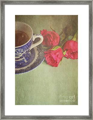 Tea And Roses Framed Print