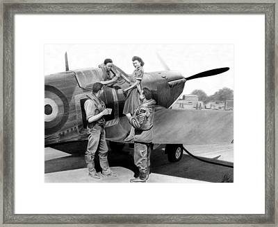 Tea At Biggin Hill Framed Print by Lyle Brown