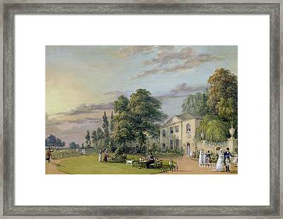 Tea At Englefield Green Framed Print by Paul Sandby