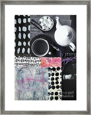 Tea At Garcon Framed Print by Elena Nosyreva