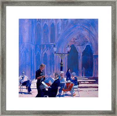 Tea At York Minster Framed Print by Neil McBride