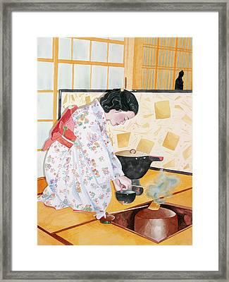 Tea Ceremony Framed Print by Judy Swerlick