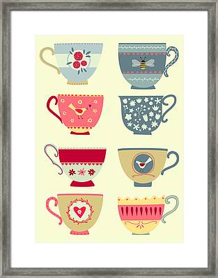 Tea Cups Framed Print by Nic Squirrell