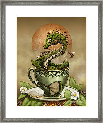 Framed Print featuring the digital art Tea Dragon by Stanley Morrison