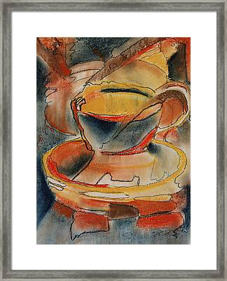 Tea For One - Korea Midnight Series Framed Print by Shirley McMahon