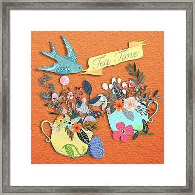 Tea For Two Framed Print by Little Bunny Sunshine