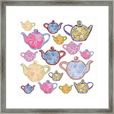 Tea For Two Framed Print by Sarah Hough