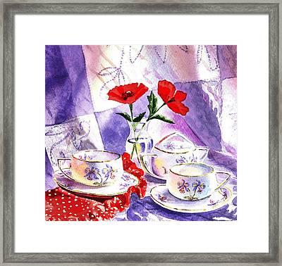 Tea For Two Vintage Style Framed Print