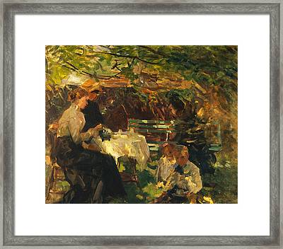 Tea In The Garden, Framed Print by Walter Frederick Osborne