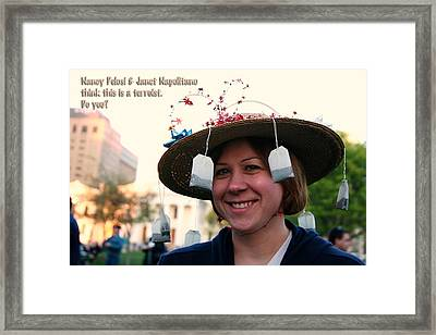 Tea Partier Framed Print