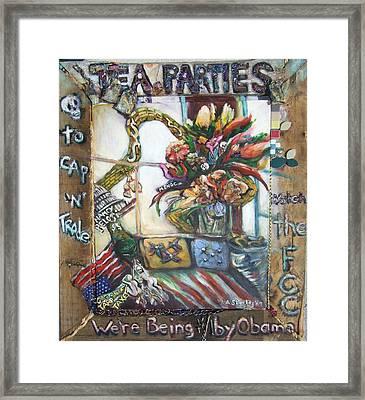 Tea Parties Framed Print by Lee Anne Stieglitz