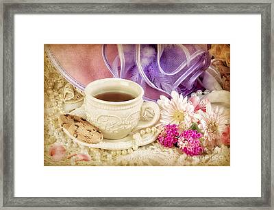 Tea Party Framed Print by Cheryl Davis