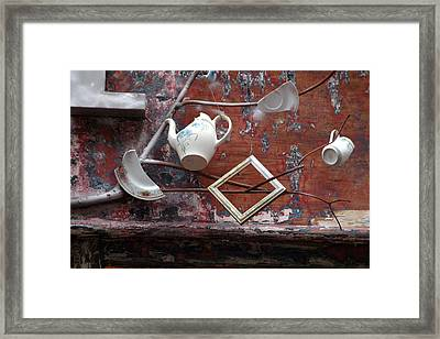 Tea Party Framed Print by Jez C Self