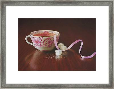Tea Party Pink Framed Print