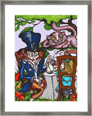 Tea Party Framed Print by Rae Chichilnitsky