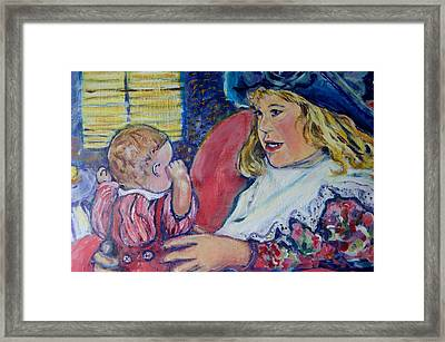 Tea Party Framed Print by Susan Brown    Slizys art signature name