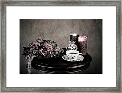Tea Party Time Framed Print by Sherry Hallemeier