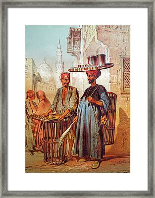 Framed Print featuring the photograph Tea Seller by Munir Alawi