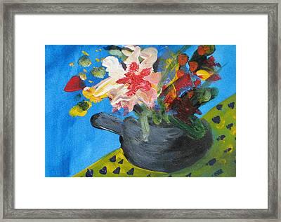 Tea Series C Framed Print by Rebecca Merola