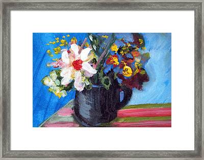 Tea Series D Framed Print by Rebecca Merola
