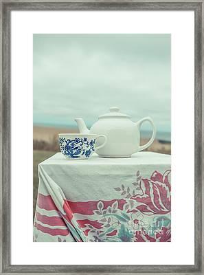 Tea Service Framed Print by Edward Fielding