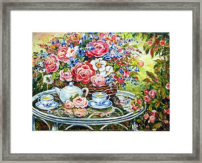 Tea Service Framed Print