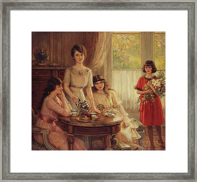 Tea Time Framed Print by Albert Lynch